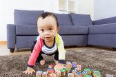 Little boy ready to jump — Stock Photo