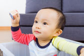 Asian baby boy smile — Stock Photo