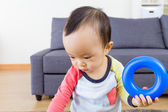Baby boy play toy — Stock Photo