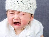 Asian baby crying — Stock Photo