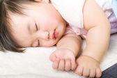 Little baby girl sleeping — Stock Photo