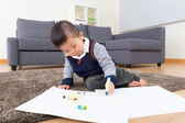 Little boy love drawing — Stock Photo