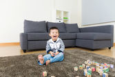 Little boy feel excited — Stock Photo