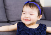 Baby girl giggle — Stock Photo