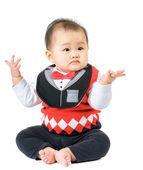 Baby raise up hand — Stock Photo