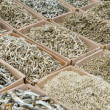 Stock Photo: Dried small salty fish