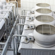 Stock Photo: Cooling tower inside building