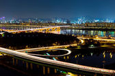 Seoul city at night — Stock Photo