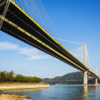 Stock Photo: Ting Kau suspension bridge