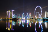 Singapore with night show — Stock Photo