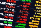 Stock market quotes — Stock Photo
