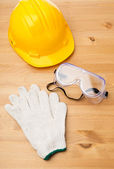 Standard construction safety equipment — Stock Photo