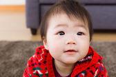 Little girl feel curiosity — Stock Photo
