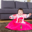 Little girl wear korehanbok — Stock Photo #39050099
