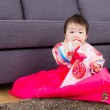 Traditional korean costume baby — Stockfoto