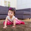 Little girl crawling at home — Stock Photo #39050207
