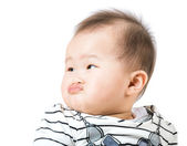 Baby pout lip — Stock Photo