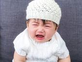 Asian baby crying — Stock Photo