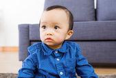 Asian baby boy feel curiosity — Stock Photo