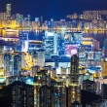 Hong Kong city skyline — Stock Photo