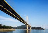 Hängebrücke in hongkong — Stockfoto
