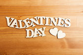 Valentines day wooden letters — Stock Photo