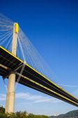 висячий мост в гонконге — Стоковое фото