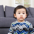 Stock Photo: Little boy feel upset