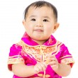 Chinese Baby with traditional costume — Stock Photo