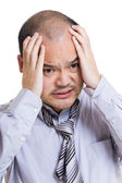 Stressed out businessman — Stock Photo