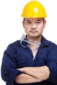 Asian Construction worker portrait — Stock Photo