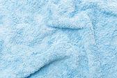 Blue Fabric towel Texture — Stock Photo