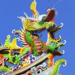 Chinese style dragon statue with blue sky — Stock Photo #39742287