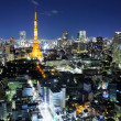 Tokyo ciy at night — Stock Photo