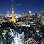 Tokyo ciy at night — Stock Photo