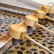 Stock Photo: Traditional purification dipper in Japanese temple