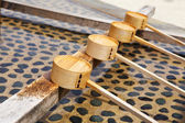 Traditional purification dipper in Japanese temple — Stock Photo