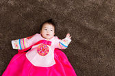 Korean little baby girl — Stock Photo
