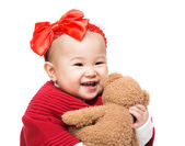 Baby play doll isolated on white — Stock Photo
