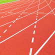 Stock Photo: Athletics stadium running track