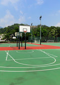 Outdoor public basketball court — Foto Stock