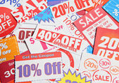 Stack of coupons — Stock Photo
