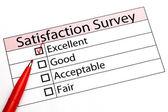 Customer service evaluation form — Stock Photo