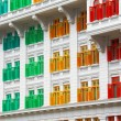 Stock Photo: Heritage colourful Windows in Singapore