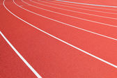 Running track in red — Stock Photo