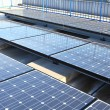 Solar Panels on roof top — Stock Photo