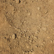 Dry agricultural brown soil — Stock Photo