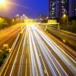 Car light trail on highway — Stock Photo #40263827