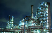 Petrochemical plant at night — Stock Photo