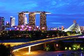 Singapur noc — Stock fotografie